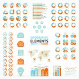 Elementos de Infographic, diagrama, gráfico, setas Foto de Stock