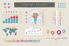 Elementos de Infographic e conceito de uma comunicação Fotografia de Stock