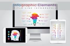 Elementos de Infographic e conceito de uma comunicação Foto de Stock Royalty Free