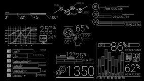 Elementos de Infographic en la línea estilo almacen de video