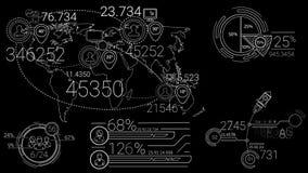Elementos de Infographic en la línea estilo almacen de metraje de vídeo