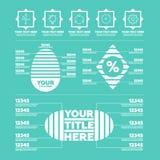 Elementos de Infographic Etapas, ícones e cartas Imagem de Stock Royalty Free