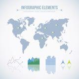 Elementos de Infographic Imagenes de archivo