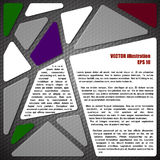 Elementos de Infographic no fundo do carbono Fotos de Stock Royalty Free