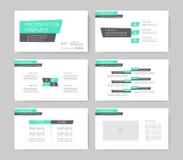 Elementos de Infographic para moldes da apresentação ilustração stock