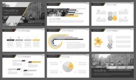 Elementos de Infographic para moldes da apresentação Imagens de Stock
