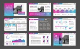 Elementos de Infographic para moldes da apresentação Fotos de Stock Royalty Free