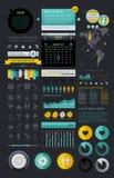 Elementos de Infographics Foto de archivo libre de regalías