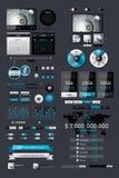Elementos de Infographics Fotos de archivo libres de regalías