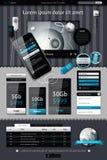Elementos de Infographics Imagens de Stock