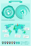 Elementos de Infographics Imagen de archivo libre de regalías