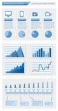 Elementos de Infographics Imagenes de archivo