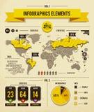 Elementos de Infographics ilustração royalty free