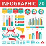 Elementos 20 de Infographics Fotos de Stock Royalty Free