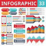 Elementos 33 de Infographics Imagens de Stock Royalty Free