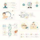 Elementos de Infographics Fotografía de archivo libre de regalías