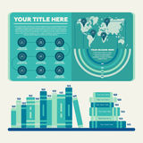 Elementos de Infographics Carta de barra e carta de torta Fotos de Stock Royalty Free
