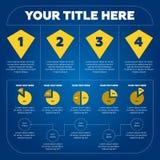 Elementos de Infographics - carta de torta, 4 etapas Foto de Stock Royalty Free