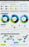 Elementos de Infographics com teclas Imagem de Stock Royalty Free