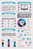 Elementos de Infographics com teclas Foto de Stock Royalty Free