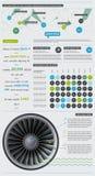 Elementos de Infographics con los botones Imagen de archivo