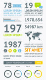 Elementos de Infographics con los botones y los menús Fotos de archivo