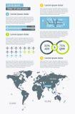 Elementos de Infographics con los botones y los menús Fotografía de archivo libre de regalías