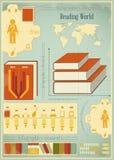 Elementos de Infographics do livro ilustração stock