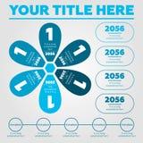 Elementos de Infographics - etapas Foto de Stock