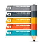 Elementos de Infographics Processo de cinco etapas Imagens de Stock Royalty Free