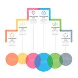 Elementos de Infographics Seis processos das etapas Foto de Stock