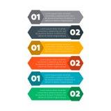 Elementos de Infographics Seis processos das etapas Fotos de Stock Royalty Free