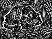 Elementos de líneas internas stock de ilustración
