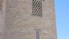 Elementos de la arquitectura antigua de Asia Central almacen de metraje de vídeo