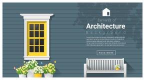 Elementos de la arquitectura, fondo de la ventana libre illustration