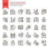 Elementos de la bioquímica ilustración del vector