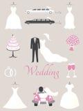 Elementos de la boda Imagen de archivo libre de regalías