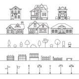Elementos de la calle ilustración del vector