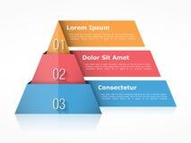 Elementos de la carta tres de la pirámide ilustración del vector
