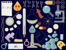 Elementos de la ciencia Imágenes de archivo libres de regalías