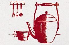 Elementos de la cocina Fotografía de archivo libre de regalías