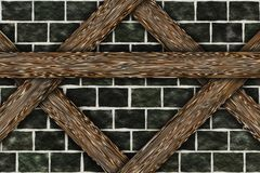 Elementos de la construcción del chalet del marco de madera Fotografía de archivo