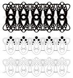 Elementos de la decoración. ilustración del vector
