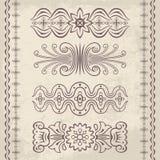 Elementos de la decoración stock de ilustración