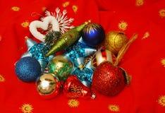 Elementos de la decoración de la Navidad Fotografía de archivo