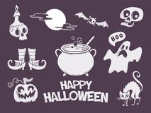 Elementos de la decoración de Halloween Imagenes de archivo