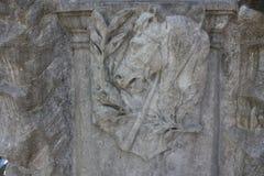 Elementos de la decoraci?n de monumentos de piedra antiguos imágenes de archivo libres de regalías
