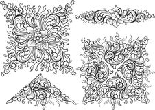 Elementos de la decoración del vector Imagen de archivo