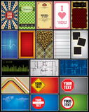 Elementos de la disposición Imagen de archivo libre de regalías