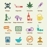 Elementos de la droga stock de ilustración
